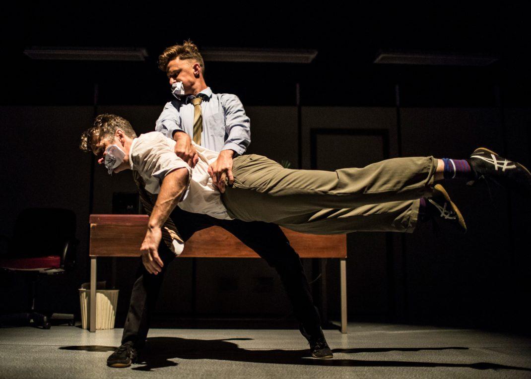 Gavin Webber and Joshua Thomson in 'Cockfight'