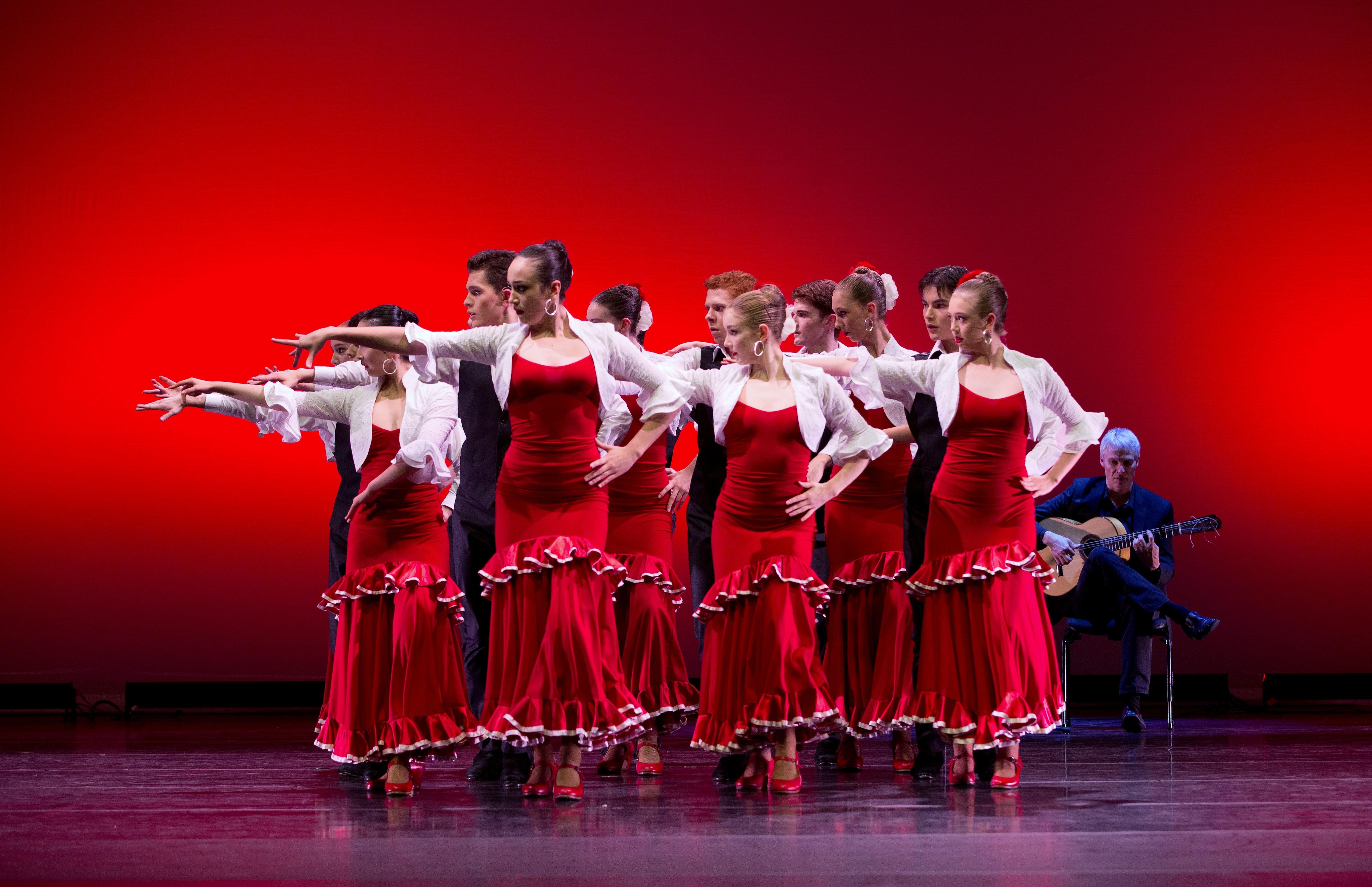 Dancers from the Australian Ballet School in 'Alegrias'. Photo Sergey Konstantinov
