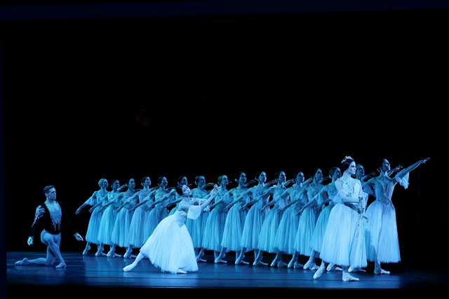 Ako Kondo, Ty King-Wall, and Valerie Tereshchenko in 'Giselle' Act II. Photo: © Jeff Busby