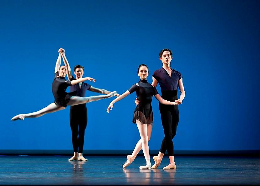Level 7 dancers from the Australian Ballet School in Stephen Baynes' 'Ballet Barocco'. Showcase 2018. Photo: Sergeyev Konstantinov