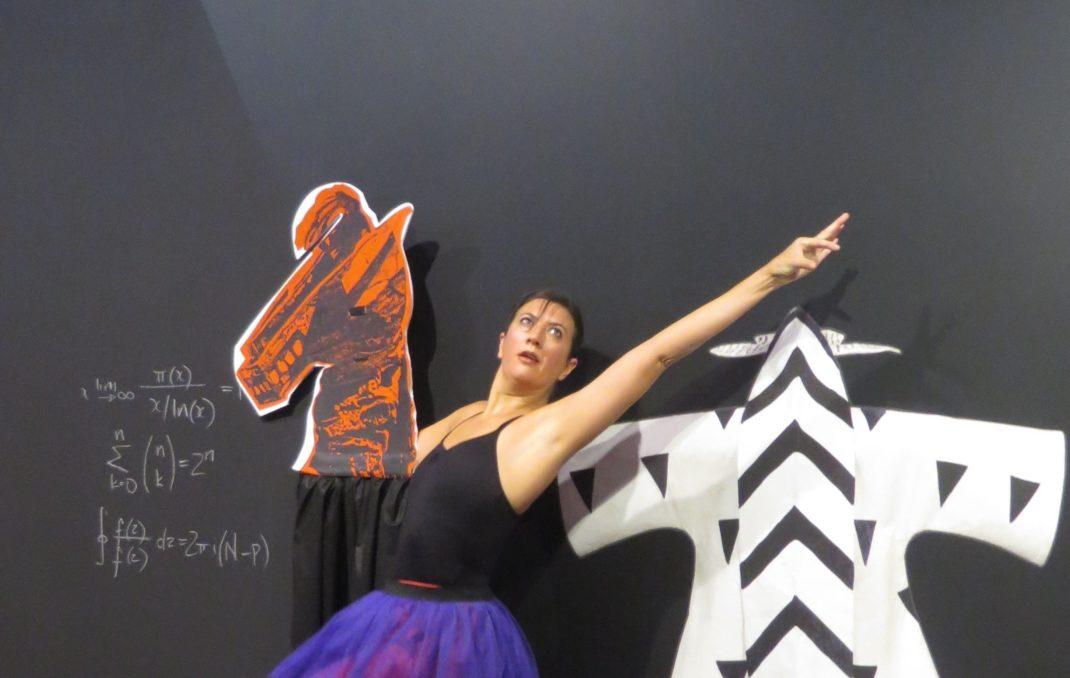 Brooke Stamp improvises for 'NGA Play. Sally Smart', 2018