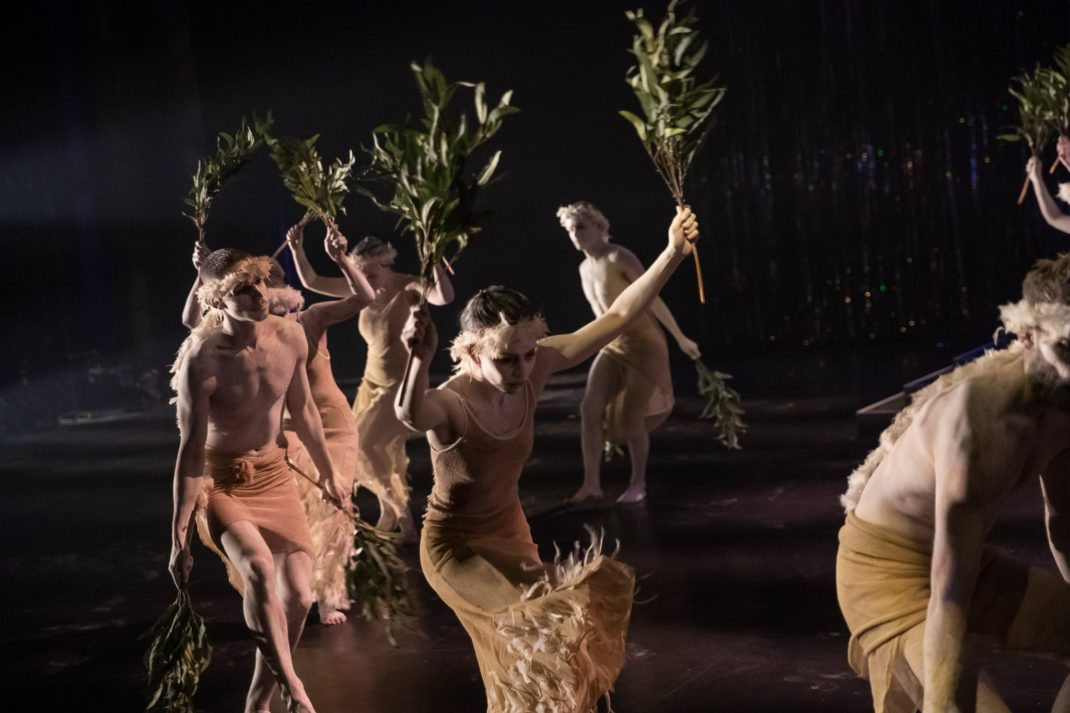 Bangarra Dance Theatre in a scene from Corroboree of 2001. Dubboo 2018. Photo Daniel Boud