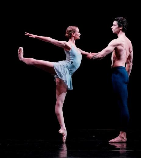 Léonore Baulac and Florian Magnenet in Trois gnossiennes .Paris Opera Ballet. © 2019 Agathe Poupeney/OnP