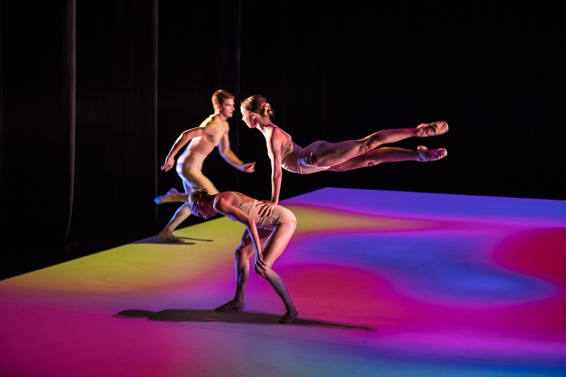 Scene from Loughlan Prior's 'The appearance of colour.' Bespoke, Queensland Ballet, 2019. Photo: © David Kelly
