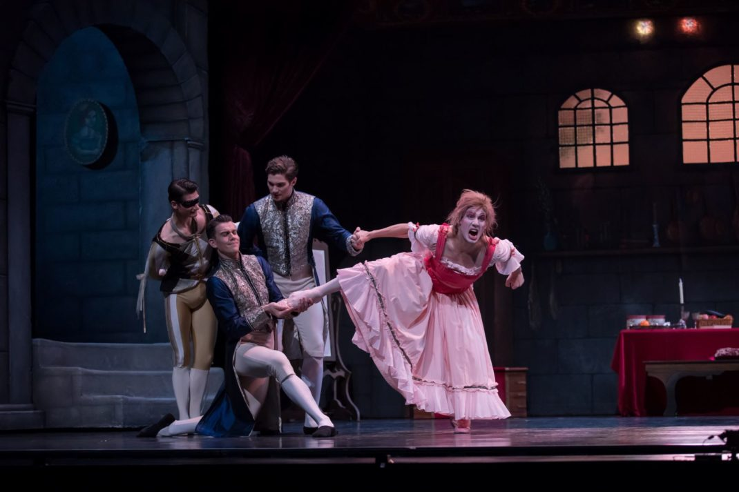 Camilo Ramos as Ugly Sister Short in Ben Stevenson's 'Cinderella'. Queensland Ballet. Photo: © David Kelly