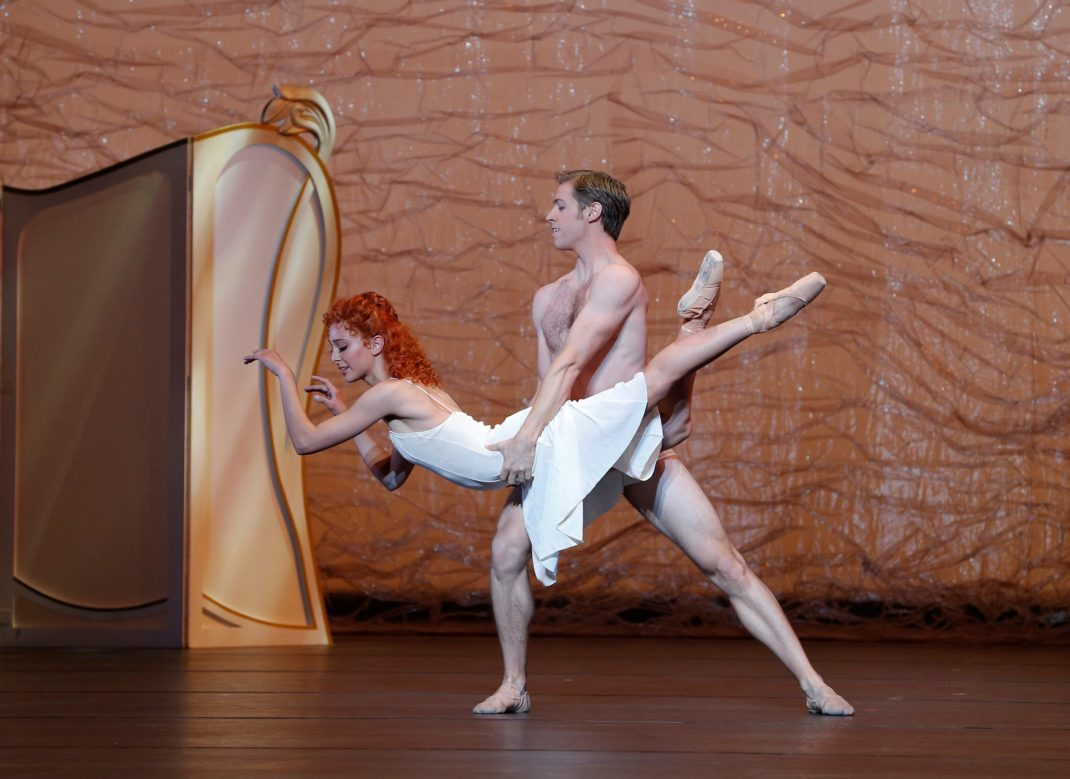Dimity Azoury and Ty-King Wall in Graeme Murphy's 'The Silver Rose'. The Australian Ballet. Photo: © Jeff Busby