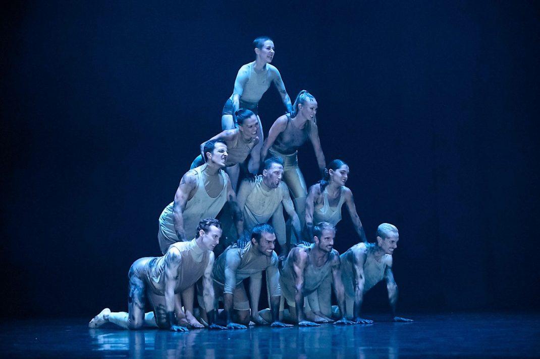 Scene from Melanie Lane's 'WOOF'. Sydney Dance Company, 2019. Photo: © Pedro Greig