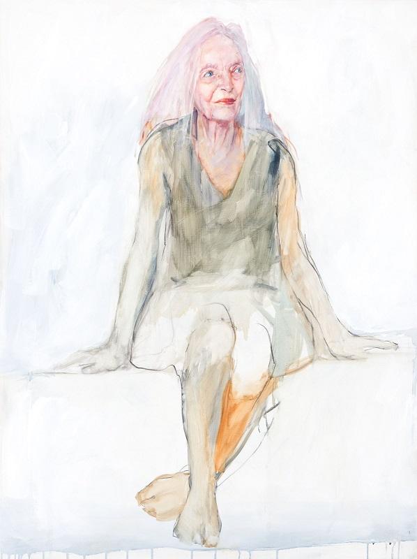 Portrait of Elizabeth Cameron Dalman by Anthea da Silva, 2019. National Portrait Gallery