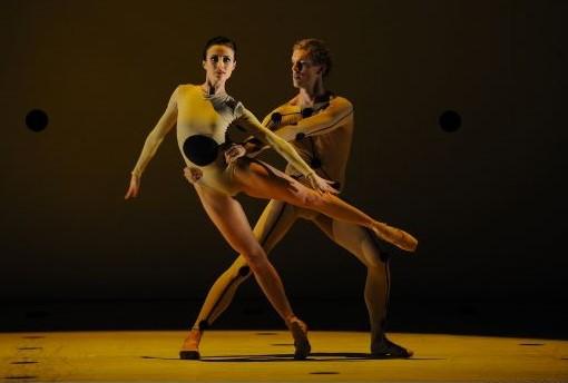 Amber Scott and Adam Bull in 'Dyad 1929'. The Australian Ballet, 2013. Photo: © Branco Gaica