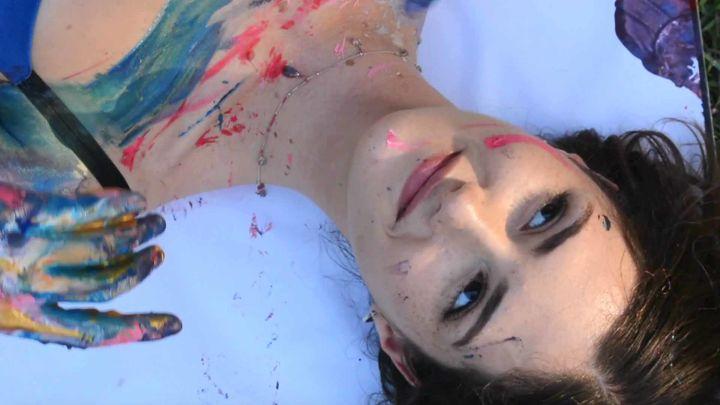 Chiara Gonzalez in 'Self Portrait'. Queensland Ballet's '60 dancers: 60 stories', 2020.