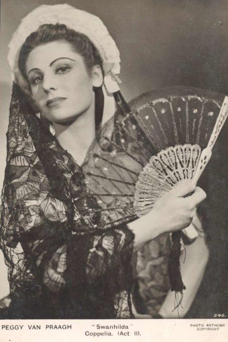 Peggy van Praagh as Swanilda. 'Coppélia', Act 11, 1940s. Photo: Anthony