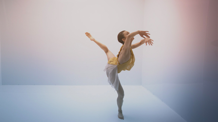 Charmene Yap in a still from Cuatro 1. Sydney Dance Company, 2020