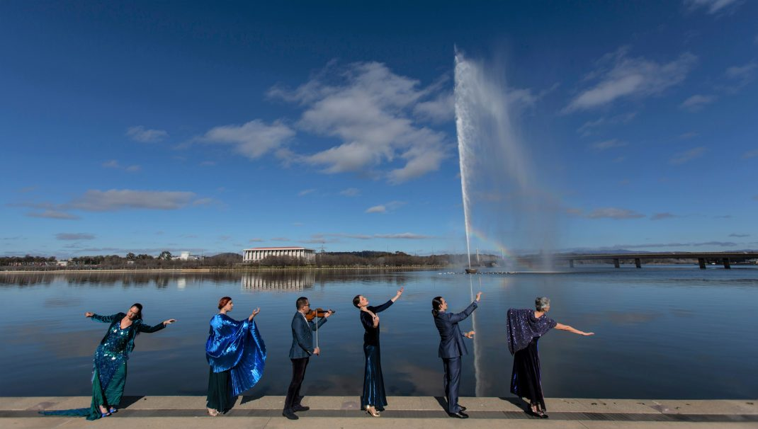 Australian Dance Party in 'Lake March', Canberra 2020.